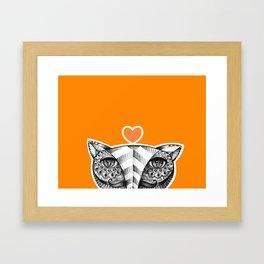 Fox O Framed Art Print