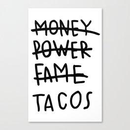 Taco Lyfe Canvas Print