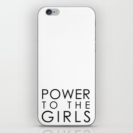 Power to the BOLD Girls | black v. iPhone Skin