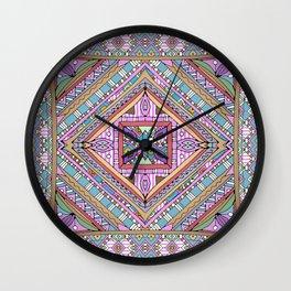 Sweet Funky Retro Mandala Wall Clock
