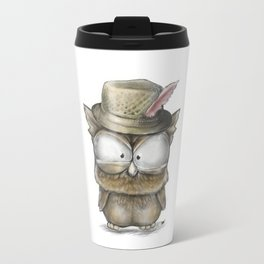 I'll show you a Hoot! - Angry Owl Illustration - Kawaii Travel Mug