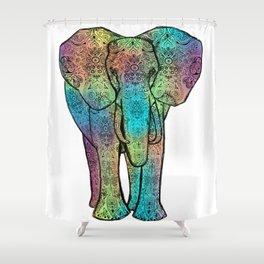 Rainbow Elephant Shower Curtain
