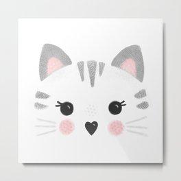 Little Kitty Face Metal Print