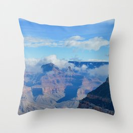 morning clouds forming Throw Pillow