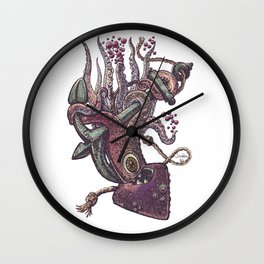 octopus and anchor Wall Clock