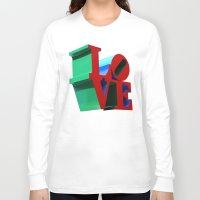 philadelphia Long Sleeve T-shirts featuring Love Philadelphia by PandaTheGreat