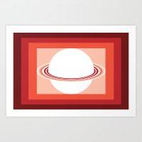 Vinigo Red Art Print
