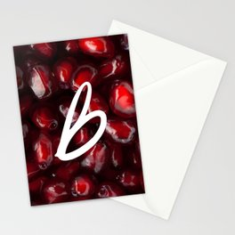 Recettes du Bonheur - pomegranate Stationery Cards