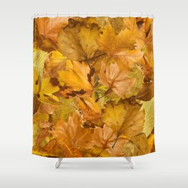 Autumn leaves. Pile of leaves Shower Curtain