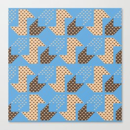 Clover&Nessie Cider/Mocha Canvas Print