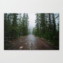 Snowy backroads Canvas Print