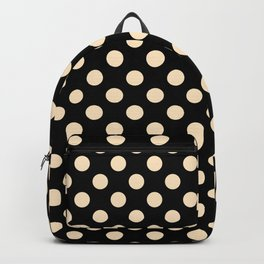 Solid Polka Dot Pattern Backpack