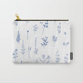 Wildflowers in blue Carry-All Pouch