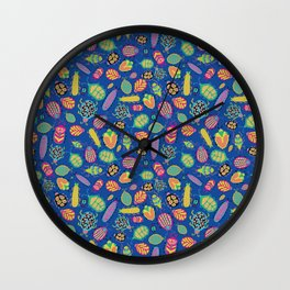 Tropical Bugs Wall Clock