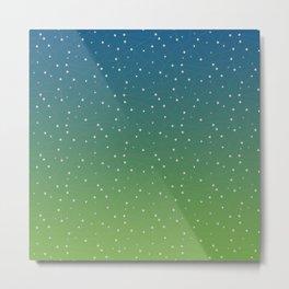 Constellations (Green) Metal Print