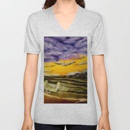 Sunset Waves Unisex V-Neck