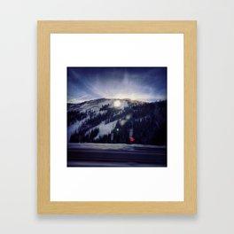 Reflective Mountain Framed Art Print