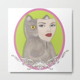 Tricky cat Metal Print