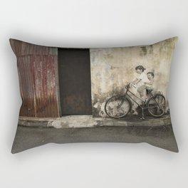Bicycle Riding Joy Rectangular Pillow