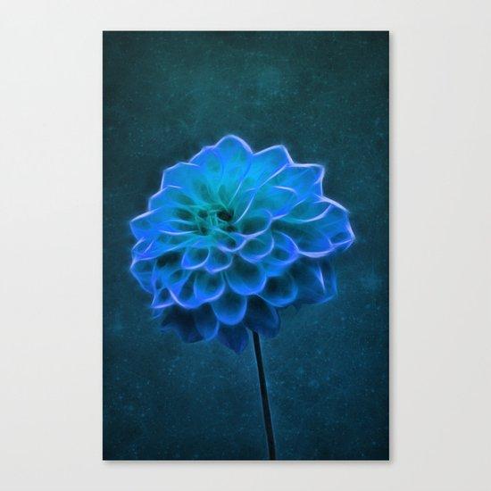 Dahlia Art Blue Canvas Print