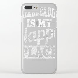 Cheerleading Is My Happy Place Clear iPhone Case