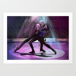 Yuri on ICE final skate Art Print