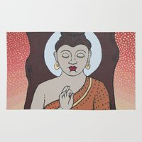buddha Area & Throw Rugs featuring Buddha     by Marjolein