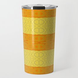 Neotribal Golden Orange Stripes Travel Mug