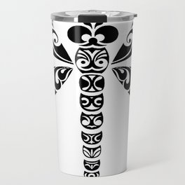 Tribal Dragonfly Tattoo Travel Mug