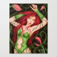poison ivy Canvas Prints featuring Poison Ivy by sika-chan