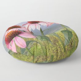 Wild Purple Coneflowers Floor Pillow