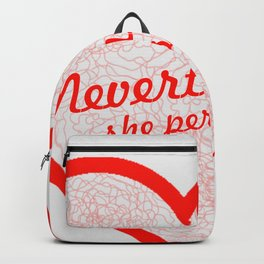 Female Power Quote Backpack