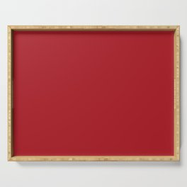 ADRENALINE RUSH Dark Red solid color Serving Tray