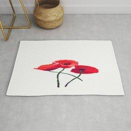 Three Poppies Rug