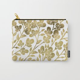 Cherry Blossoms – Gold Palette Carry-All Pouch