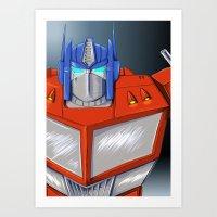 optimus prime Art Prints featuring Optimus Prime by Mercedes