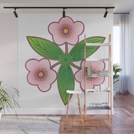 Triple pink Wall Mural