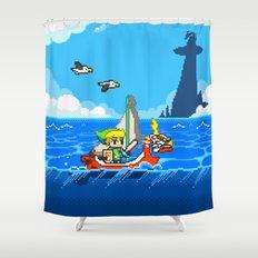 The Legend of Zelda: Wind Waker Advance Shower Curtain