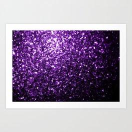 Beautiful Dark Purple glitter sparkles Art Print