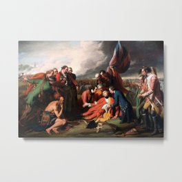 Death of General James Wolfe Oil Painting by Benjamin West Metal Print