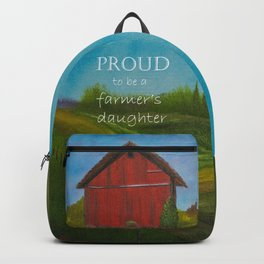 Proud to be a farmer's daughter backpack Backpack