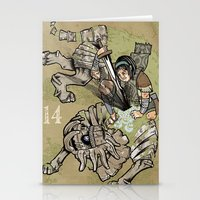 shadow of the colossus Stationery Cards featuring fourteenth colossus by im cbad