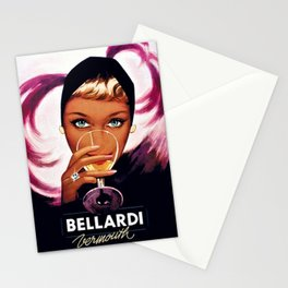 Vintage Bellardi Italian Cordial Vermouth Advertising Poster Stationery Cards