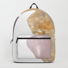 Healing and Serenity - Crystals, Rose Quartz, Amethyst, Quartz Backpack