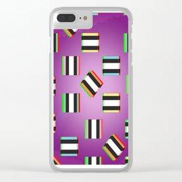 Glitch Allsorts Clear iPhone Case
