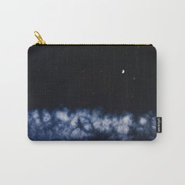 Contrail moon on a night sky Carry-All Pouch