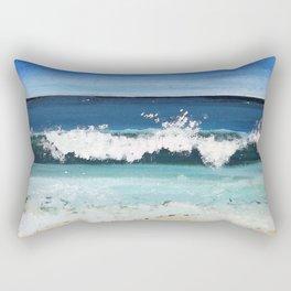 Beach Crash Rectangular Pillow
