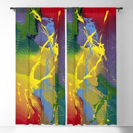Uprising - Colorful Abstract art prints Blackout Curtain