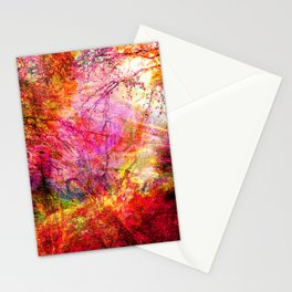Abstract Hot Pink Forest Stationery Cards