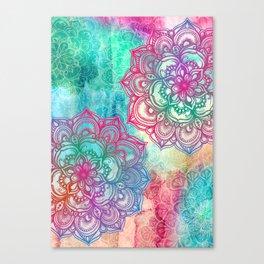 Round & Round the Rainbow Canvas Print